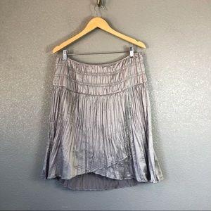 Sundance accordion pleat metallic skirt sz 10